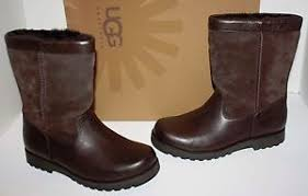s ugg australia brown leather boots nib ugg australia riverton brown leather boots size 4 ebay