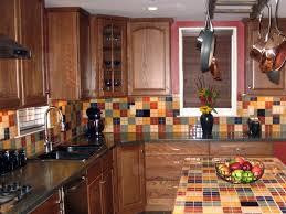 kitchen modern kitchen tile ideas brown wood kitchen cabinet