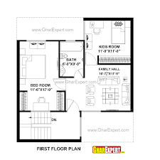 house plan for 30 feet by 32 feet plot plot size 107 square yards