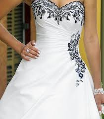 black and white wedding dress i am in with the black detailing on this dress i want i