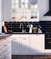 black backsplash in kitchen 50 shades of black and white home decor black subway tiles subway