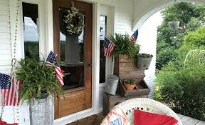 the fourth of july decorated my red front door