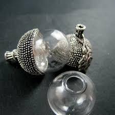 set 6 pcs vintage style 6pcs vintage style antiqued silver oak nut 18mm glass dome set diy
