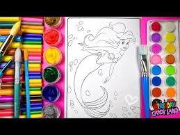coloring disney ariel mermaid coloring pages kids