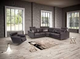 Black Leather Sectional Sofa Estro Salotti Ethan Modern Black Leather Sectional Sofa Sofas