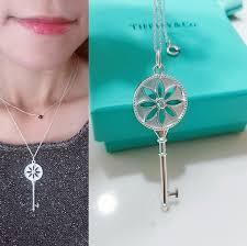 key pendant necklace tiffany images Tiffany co jewelry tiffany diamond daisy key pendant 18 jpg
