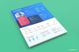 Resume Template With Picture Modern Resume Template In Psd With Cover Letter Zippypixels