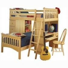 Bed And Desk Combo Furniture Bunk Bed With Desk And Drawers Foter