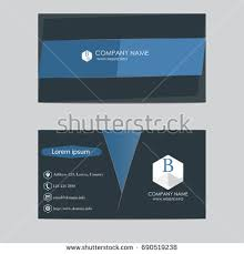 Business Cards Front And Back Vector Abstract Business Cards Stock Vector 161982023 Shutterstock