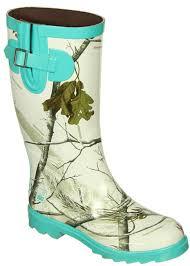 realtree camouflage rainboot rain boots snow mint green