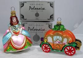 kurt adler polonaise cinderella and coach ornament
