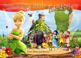 diy tinkerbell fairy birthday party invitation
