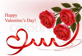 roses and hearts s day background three roses with two hearts and
