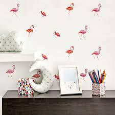 online get cheap peel and stick wall murals aliexpress com funlife flamingo decals wall sticker diy wall mural sticker for children room decoration peel stick