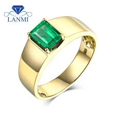 men s ring simple design colombia emerald men s ring without diamond