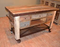 solid wood kitchen islands rustic solid reclaimed wood kitchen island with bottom shelf back