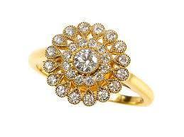 engagement rings flower design 18ct two colour gold flower design cluster ring http