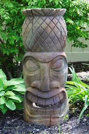pineapple tiki garden sculpture