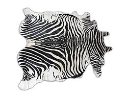 Black And White Zebra Area Rug Amazon Com Zebra Print Genuine Cowhide Area Rug Zebra Skin Throw