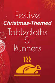 Christmas Table Cloths by 24 Best Christmas Tablecloth And Runner Images On Pinterest