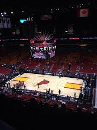 american airlines arena section 307 row 7 seat 1 miami heat