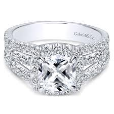 wedding rings pave images 14k white gold diamond cushion cut halo triple pave 14k white gold jpg