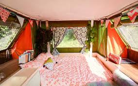 Renting A Tiny House Woman U0027s Urban Retro Pop Up Caravan Is Escape From The Rent Trap