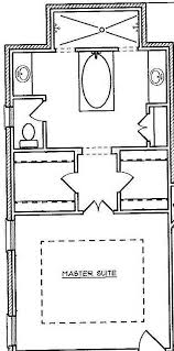 master suite layout that i love the tub doesnt have to be in
