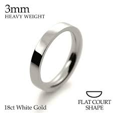 18ct white gold wedding ring handmade 18ct white gold 2 5mm flat court shape wedding