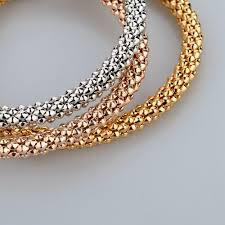 rose gold color bracelet images Wedding gold color bracelets fashionable bangles for women jpg