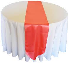 cheap coral table runners 13 5 x108 satin table runner coral 1pc creative wedding ideas