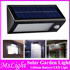 Motion Sensor Patio Light Waterproof Solar Powered Outdoor Motion Sensor Light 32 Led Stair