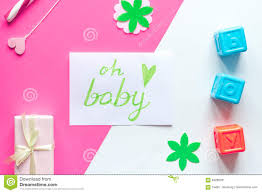 birth child baby shower concept boy or top view stock photo