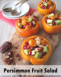 aip thanksgiving paleo persimmon fruit salad fall dessert