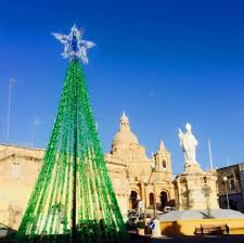 recycled bottle christmas tree in siggiewi malta u2013 the malting pot