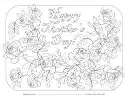 coloring for mom the draw page