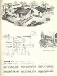 mid century modern house plan modern house plans with courtyards in the middle new vintage house
