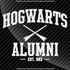 hogwarts alumni decal decals by delano