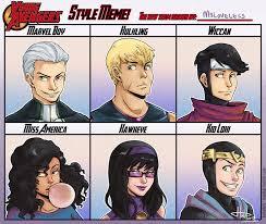 Avengers Meme - young avengers huda style meme by msloveless on deviantart