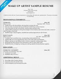 Sample Cosmetology Resume by Wonderful Design Makeup Artist Resume 1 Makeup Artist Resume