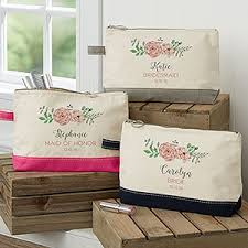 bridal party makeup bags personalized makeup bags for bridesmaids