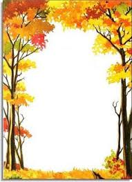 fall tree border clip free activity days fall