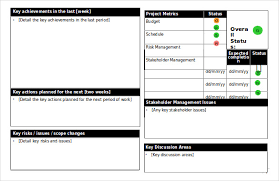 weekly report template ppt status report templates 12 free word documents free