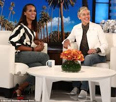Hawaii Chair Ellen Kerry Washington Gets Pranked By Ellen During Game Daily Mail Online