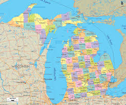 Map Of The 50 United States by Map Of State Of Michigan With Its Cities Towns And Counties Been