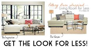 pottery barn look pottery barn inspired living room get the look for less it s a