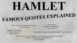 hamlet most famous quotes explained ap lit english honors