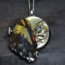 butterfly wing necklace images Antique watch with topaz and butterfly wing necklace antiquarian jpeg