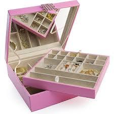 jewelry box necklace organizer images Glenor co jewelry box organizer for girls 28 section modern jpg