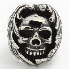 Amazing Skull - amazing skull bad ring 316l stainless steel cool evil